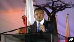 Hery Rajaonarimampianina, le 9 janvier 2015 à Antananarivo, Madagascar. (AP Photo/Martin Vogl)