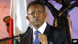 Hery Rajaonarimampianina , président du Madagascar