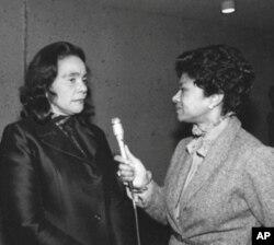 Belva Davis interviews Coretta Scott King.