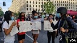 Unjuk rasa damai menuntut reformasi polisi di AS. (Foto: VOA)