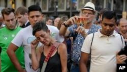 Dân chúng tụ tập tại Las Ramblas, Barcelona ngày 18/8/17 sau khi cảnh sát bắn hạ 5 nghi can khủng bố