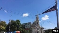 На улицах Донецка. Архивное фото.