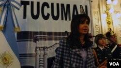 La presidenta Cristina Fernández de Kirchner encabezó un acto conmemorativo en Tucumán.