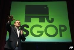 Thượng nghị sĩ Ted Cruz của bang Texas vận động tranh cử ở Wichita, bang Kansas, ngày 5/3/2016.