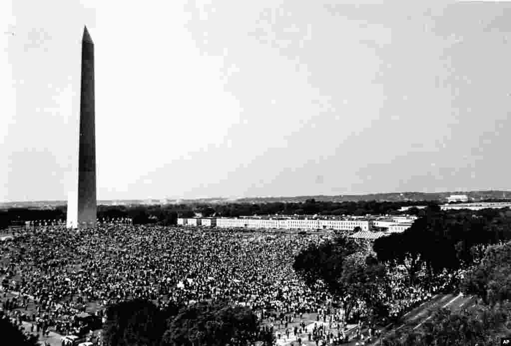 Marcha convocada por Martin Luther King Jr. el 28 de agosto de 1963.