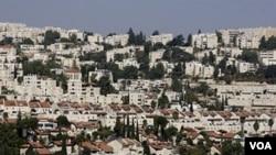 Vista gerenal de la comunidad israelí de Ramot.