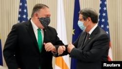 ABD Dışişleri Bakanı Mike Pompeo ve Güney Kıbrıs Rum Kesimi Lideri Nicos Anestesiyadis