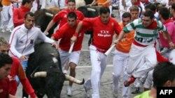 Trka s bikovima u Pamploni održava se osam puta, za vreme popularnog uličnog festivala San Fermin.