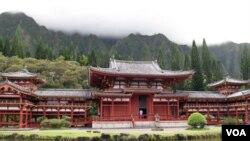 仿造日本京都古庙的夏威夷平等院