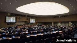 뉴욕 유엔본부에서 유엔총회 산하 제1위원회 회의가 열리고 있다. 제1위원회는 군축과 국제안보 문제를 담당한다.