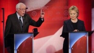 Jajak pendapat menunjukkan Senator Bernie Sanders (kiri) unggul 10 persen atas mantan Menlu AS Hillary Clinton di negara bagian New Hampshire (foto: dok).
