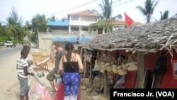 Comércio nas ruas de Pemba