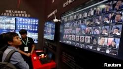 2017年在中国深圳举行的中国公安博览会期间展出面部识别技术。