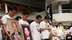 香港長跑活動人士起跑前默哀一分鐘