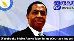 Sisiku Ayuk Tabe, président du mouvement séparatiste anglophone au Cameroun, 31 octobre 2017. (Facebook/Sisiku Ayuka Tabe Julius)