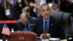 Tổng thống Mỹ Barack Obama phát biểu tại Hội nghị Cấp cao ASEAN-Hoa Kỳ ở Trung tâm Hội nghị Quốc gia, Vientiane, Lào, 8/9/2016.