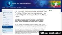 EU Myanmar Aid