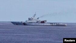 중국 순찰선이 지난 5일 남인도양에서 말레이시아 실종기 수색 작업을 벌이고 있다.