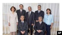 The seven imprisoned leaders of Iran's Baha'i community.