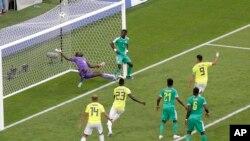تنها گول تیم کلمبیا در برابر سنیگال که به حذف تیم افریقایی از جام منجر شد