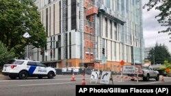 Blokirane ulice u gradu Portlandu