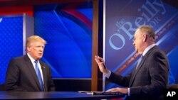 """Donald Trump cuando ejercía como candidato republicano a la presidencia, en entrevista con Bill O'Reilly para el programa de Fox """"The O'Reilly Factor"""", el 6 de noviembre de 2015 en Nueva York."""