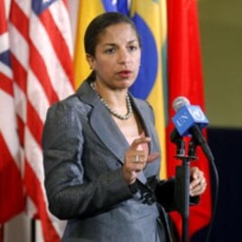 Susan Rice, Permanent Representative of the United States to the United Nations (file photo)