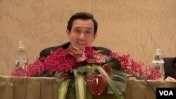 馬英九強調和平協議不代表兩岸統一 (美國之音黃耀毅)