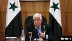 Šef diplomatije Sirije, Valid Mualem u Damasku, 12. mart 2016.
