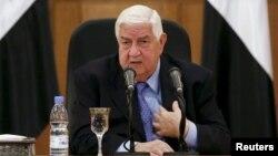 Menteri Luar Negeri Suriah Walid Al Moallem berbicara di Damaskus, Suriah (foto: dok).