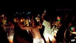 Southern Sudanese celebrate independence from northern Sudan in Juba. AP.