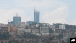 The Kigali skyline shown here in September, 2011. The US university Carnegie Mellon will open its first African campus in Kigali in August, 2012.