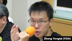 反媒体巨兽青年行动联盟代表 林飞帆