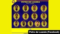 Equipa de basquetebol angolana do Petro de Luanda que vai participar na BAL, em Kigali, Ruanda