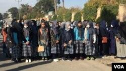 اعتراض شاگردان مکتب افغان-ترک در هرات به مسدود شدن مکتب