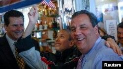 2013年11月4日,新泽西州州长克里斯蒂参加竞选活动。