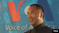 Ông Quách Văn Quý trong lần xuất hiện trên truyền hình của VOA tiếng Hoa.