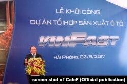 Thủ tướng Nguyễn Xuân Phúc tham gia khởi công hãng sản xuất ô tô VinFast, 2/9/2017