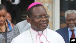 Monseigneur Marcel Utembi, président de la Conférence épiscopale nationale du Congo (Cenco), 21 décembre 2016.