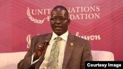 유엔 재단(United Nations Foundation)에 강연자로 초청된 쏜 모지스 촐 목사.