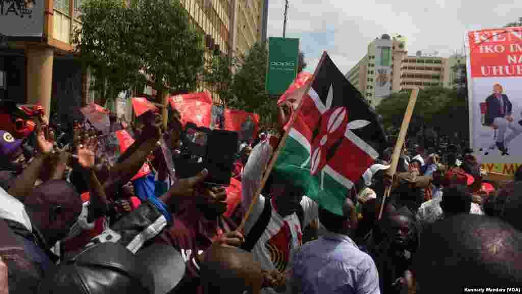 Mkusanyiko mkubwa wa wafuasi wa Jubilee Nairobi
