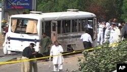 پاکستانی بحریہ کی بس پر بم حملہ، پانچ ہلاک