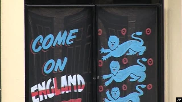 Sign supporting England's World Cup Team