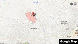 中国青海省玉树藏族自治州 (谷歌地图)