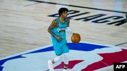 Ja Morant des Memphis Grizzlies lors d'un match contre les New Orleans Pelicans, USA, le 3 août 2020.