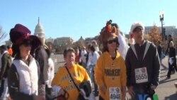 华盛顿居民感恩节参与健身帮助弱势群体