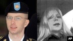 Prajurit AS, Bradley Edward Manning (kiri) dan saat memakai wig (kanan). Manning menderita kelainan identitas gender (foto: dok).
