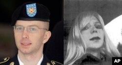 Bradley Manning antes y después de la operación que la convirtió en Chelsea Manning.