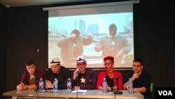 Konferencija za štampu Partije ujedinjenih fantoma, u Beogradu, 1. oktobra 2019.