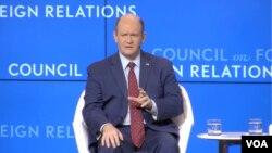 크리스 쿤스 미국 상원의원이 14일 미 외교협회(CFR)가 주최한 동아시아 정책 관련 토론회에 참석했다.